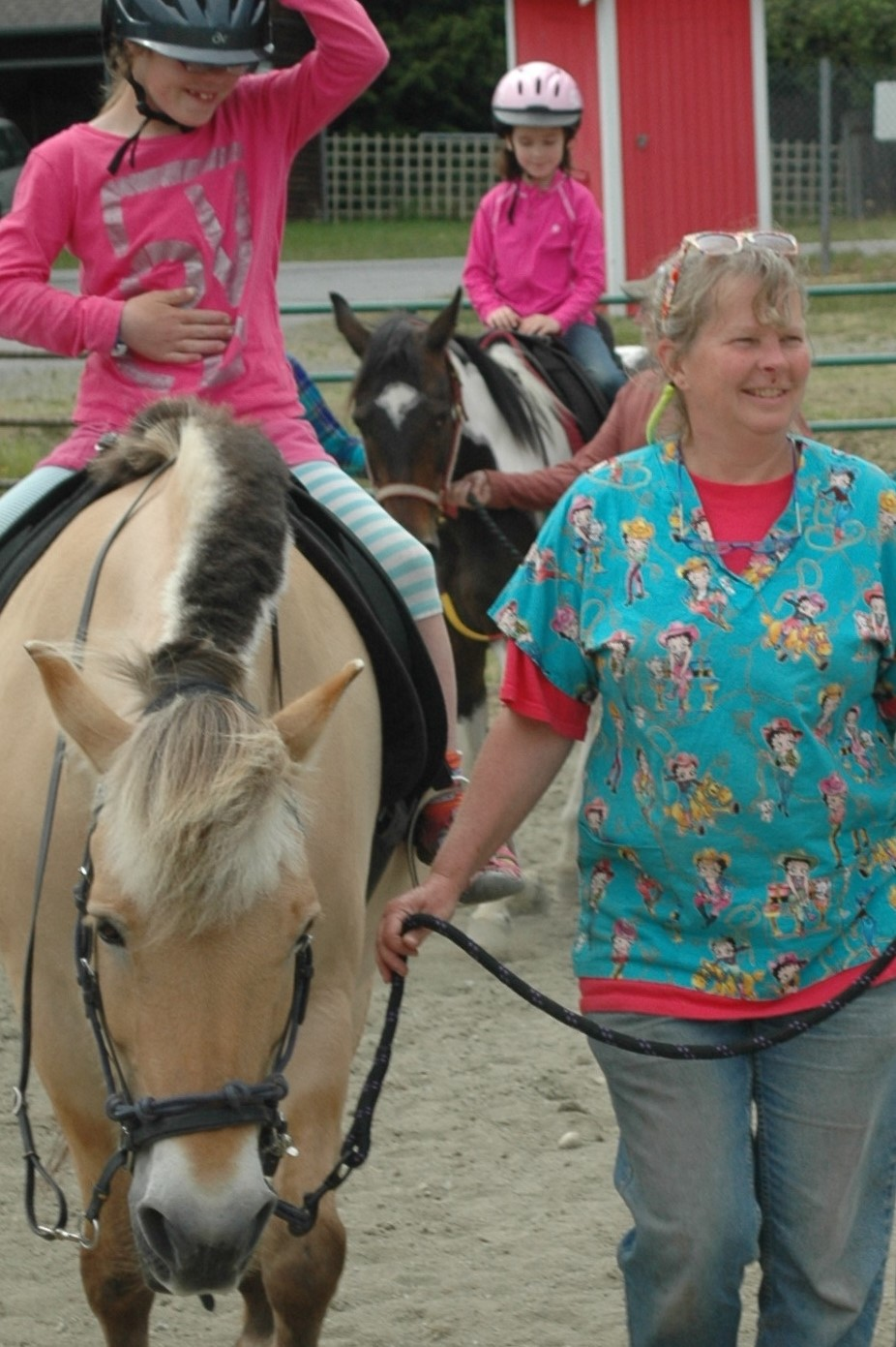 Donna is our Treasurer and brings her horse Dixie with her to the program.