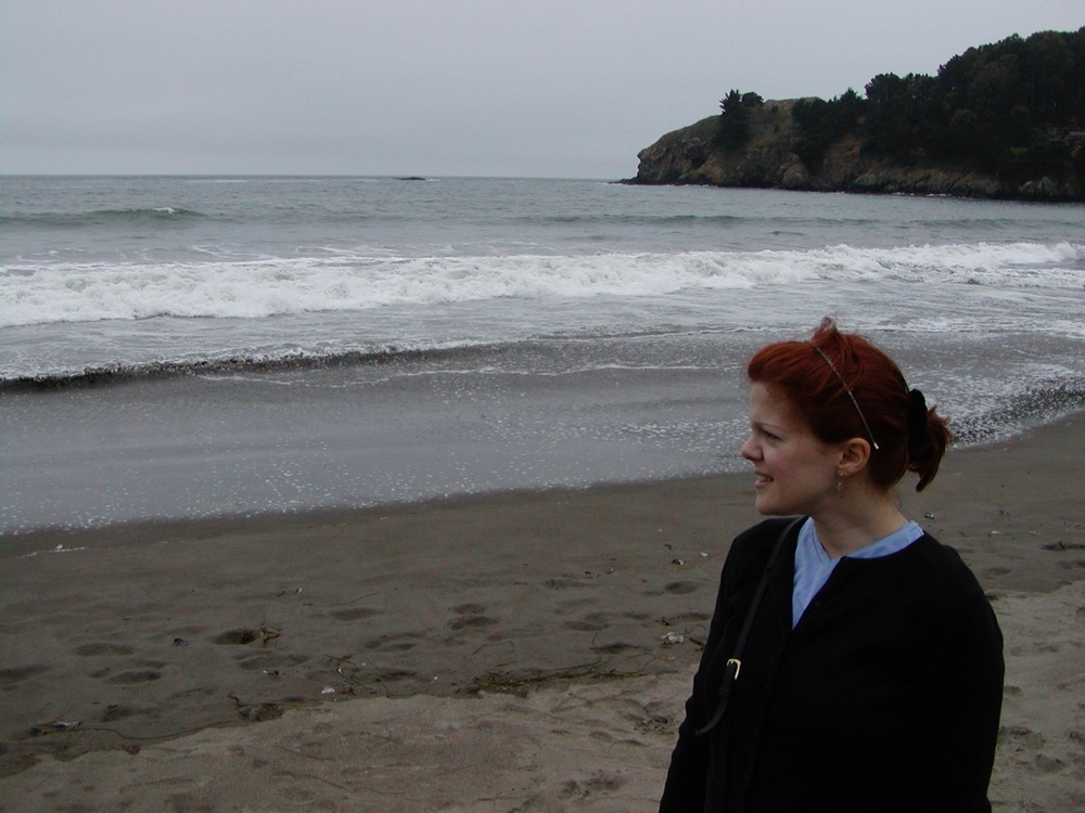 Melissa at Muir Beach near San Francisco, circa July 2005