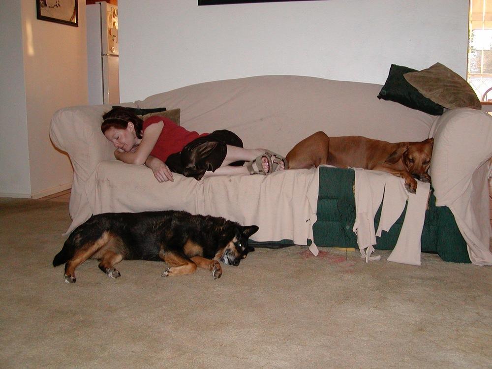 Melissa, Libby and Gypsie circa 2004