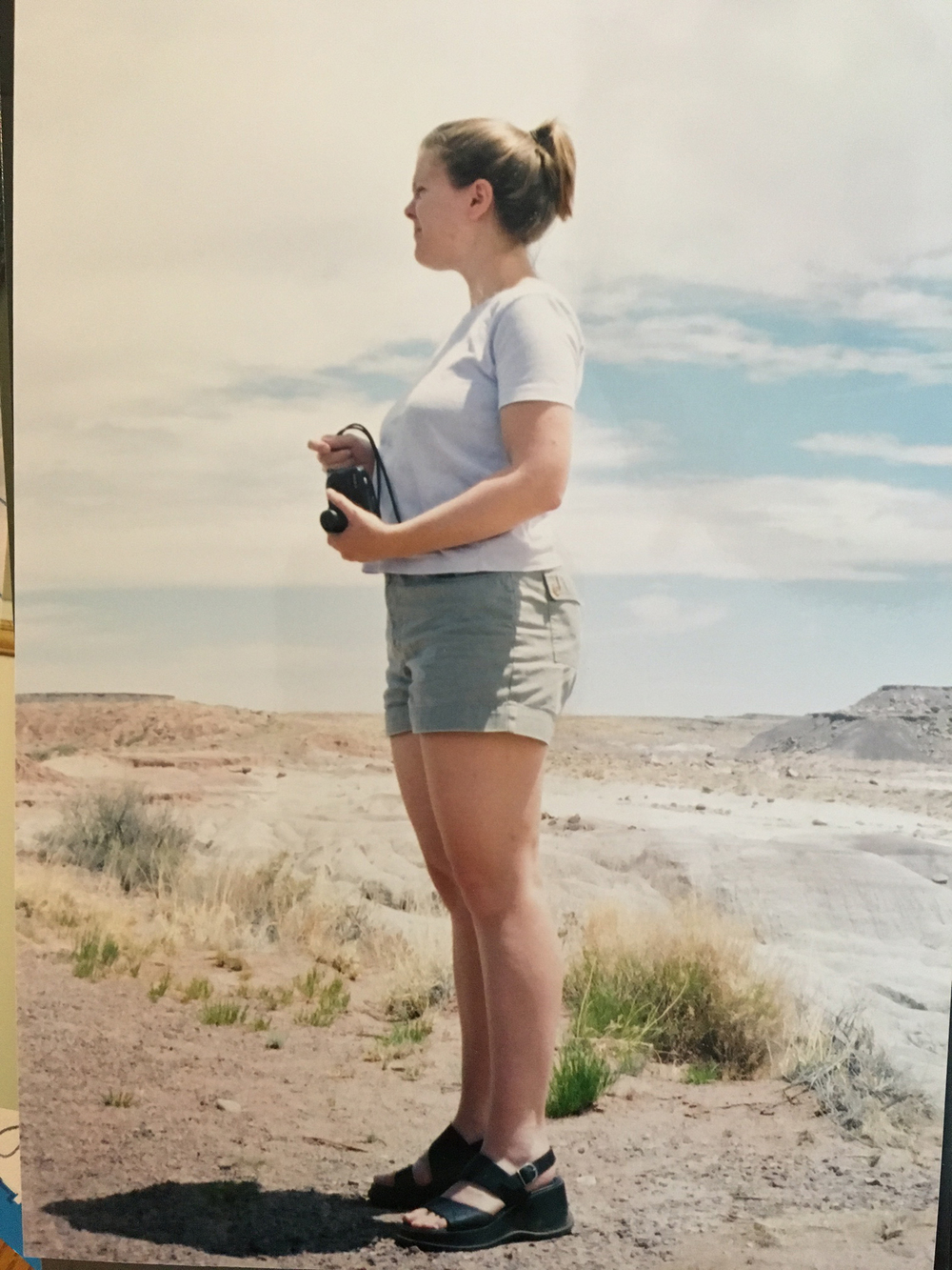 Melissa seeing the Painted Desert for the first time. (CA: ~ 1997 or 1998)