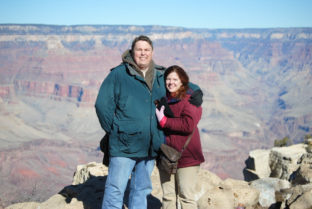 Melissa and George at the Grand Canyon National Park ca: 2002