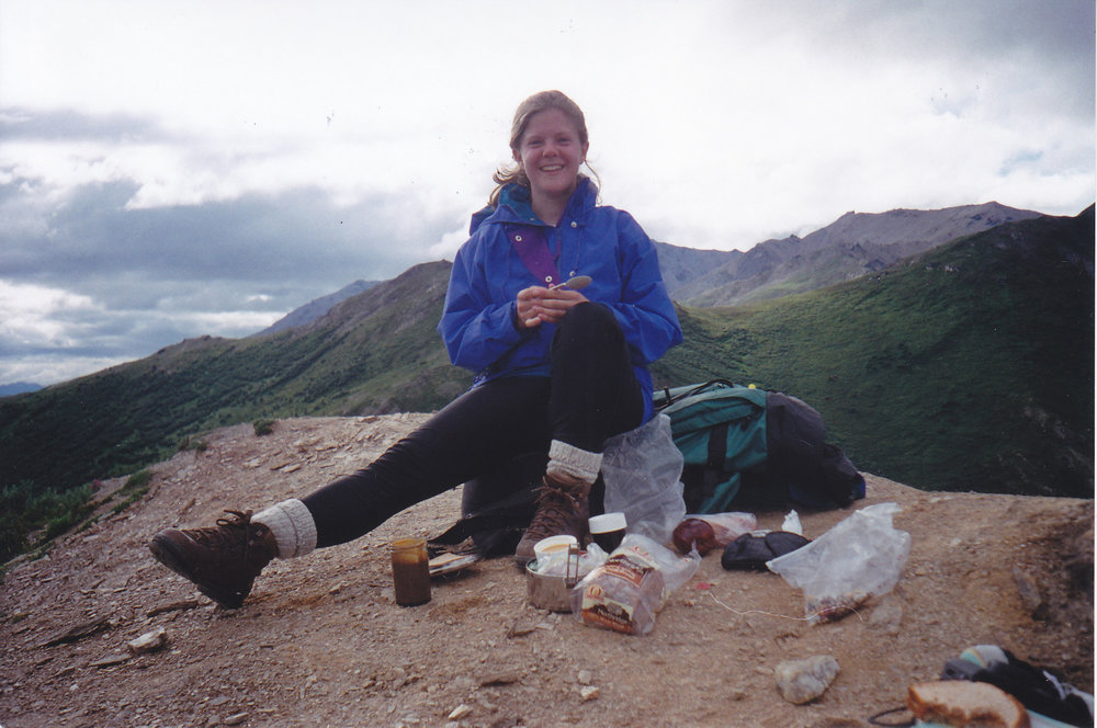 Melissa in Denali National Park ca: 1996 or 1997
