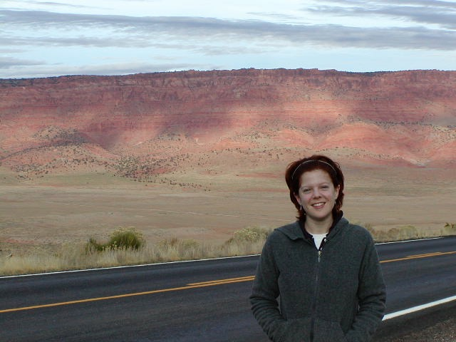 Melissa in the Vermilion Cliffs National Monument ca: 2001