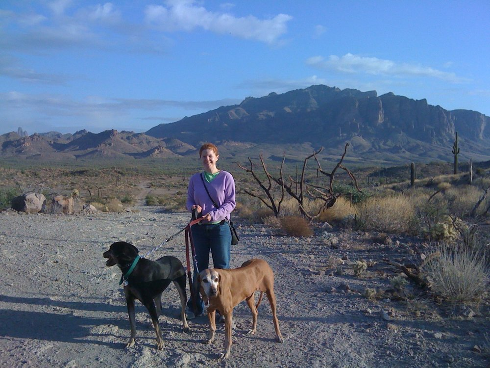 Melissa in the Superstition Mountains ca: 2010