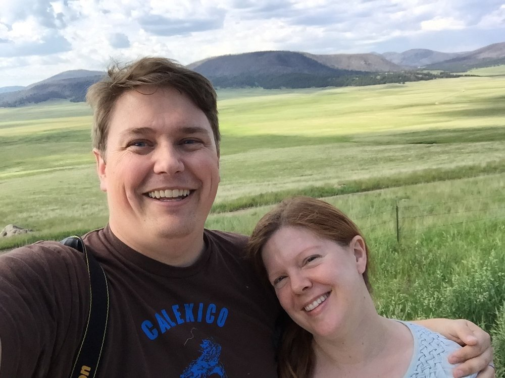 Melissa and George at Valle Caldera ca: 2015