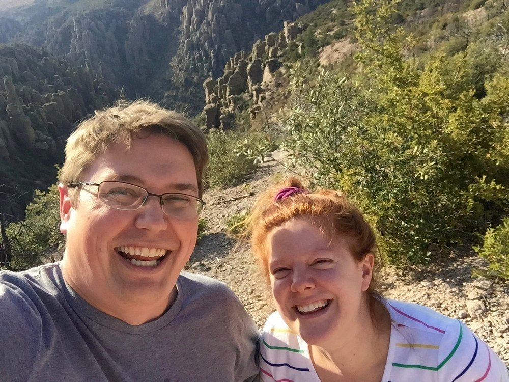 Melissa and George at Chiricahua Mountains National Monument ca: 2016
