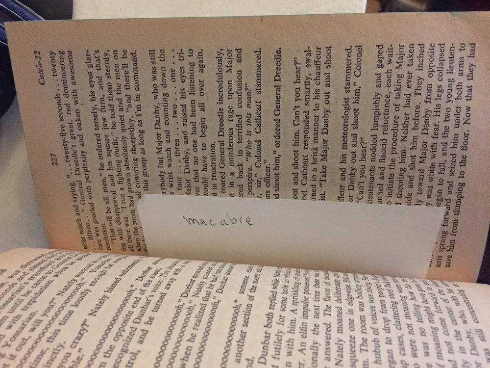 A very fitting bookmark for the book. Can you tell that she was an English major?