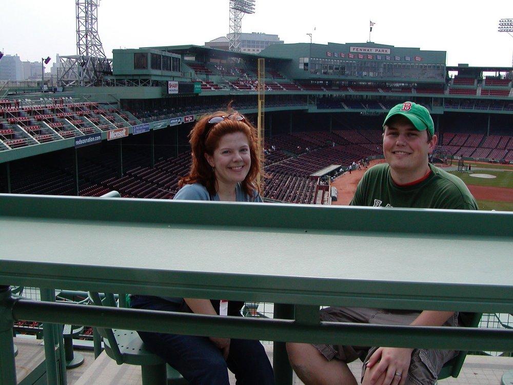 Melly & I at Fenway, circa 2006