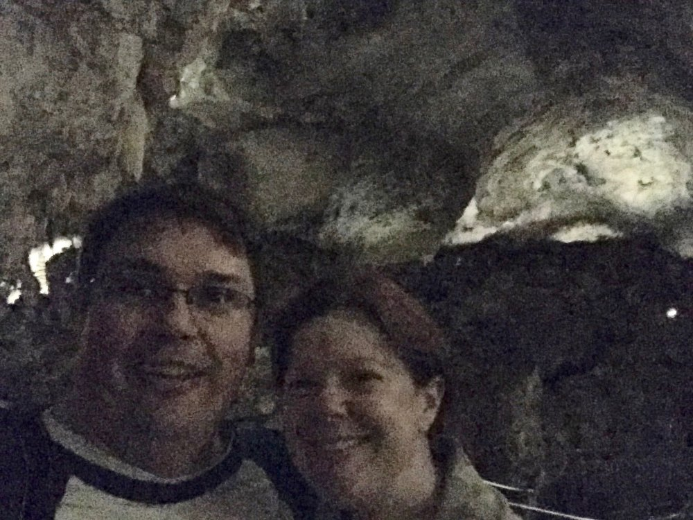 We can be happy underground - Carlsbad Caverns in June