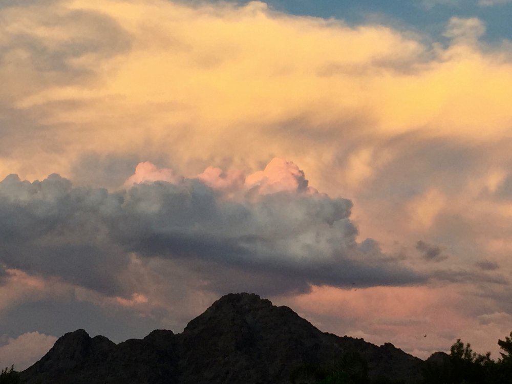 Storm clouds over Piestewa Peak (2015)