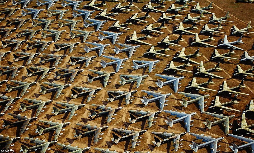 B-52s in storage at the Boneyard