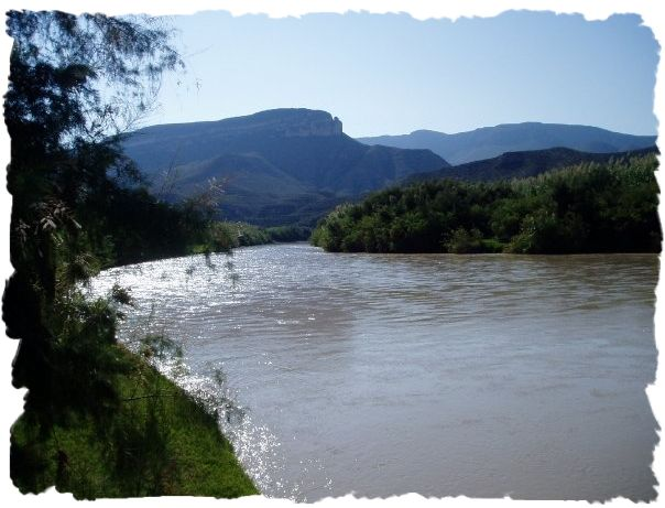 The Rio Grande River near Big Bend, Texas (Photo by Ginny Stoner)
