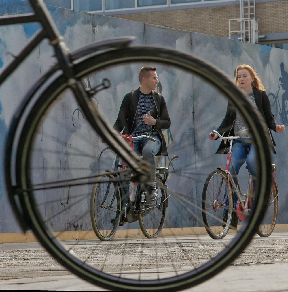 fietsen over de Zuidas - tweede fietsserie