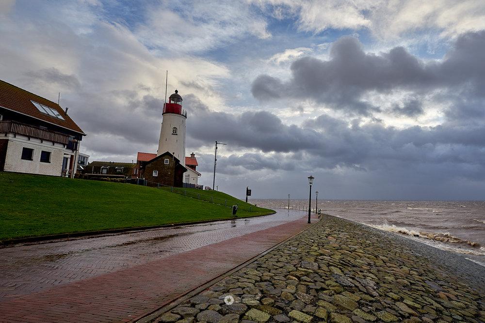 Januari storm - Uitwaaien in Urk