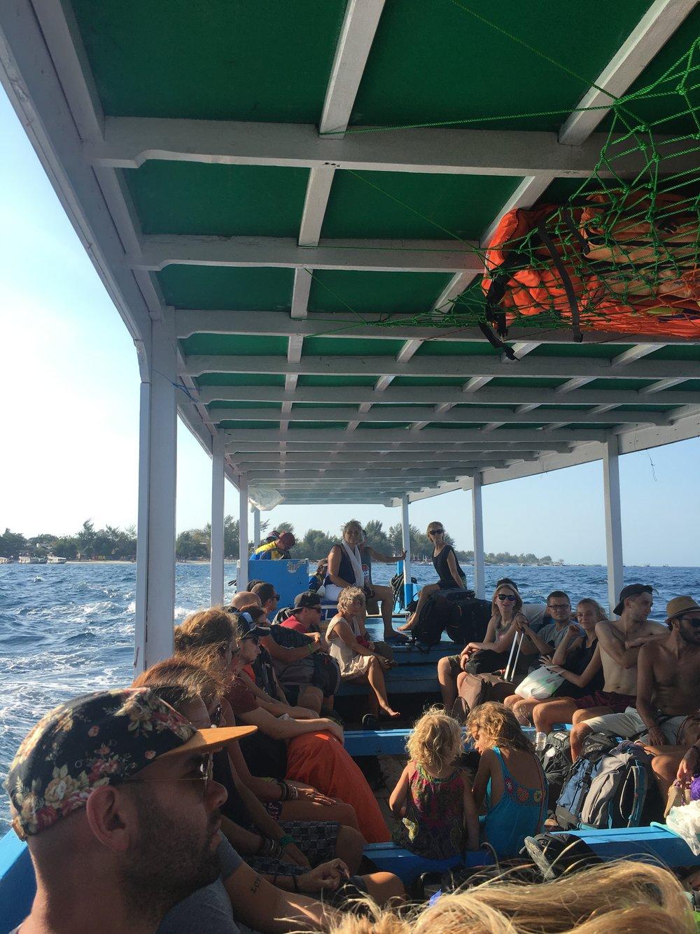 Boat to Gili Air