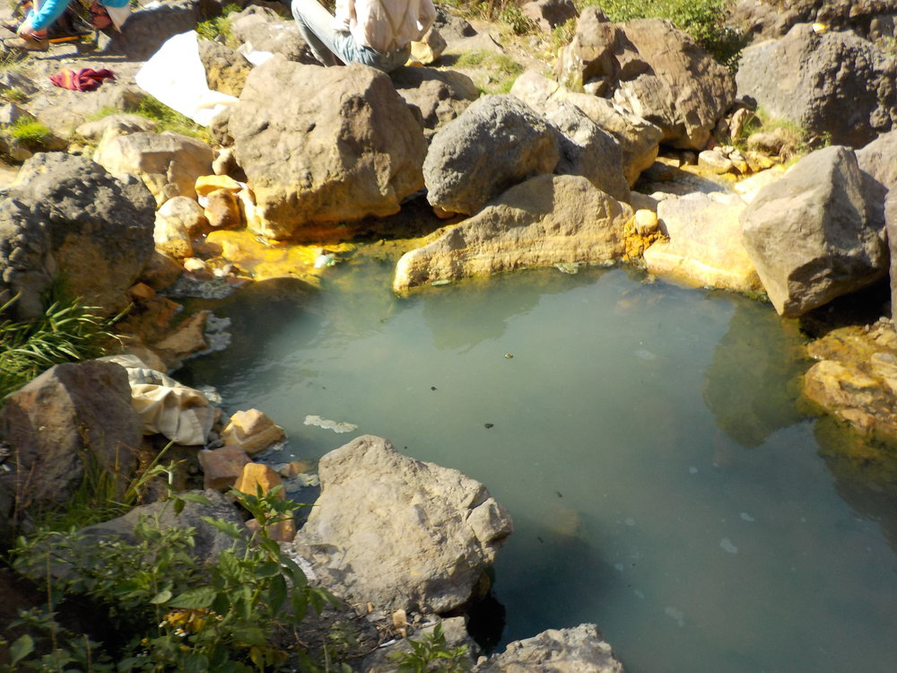 Natural hot springs were scolding