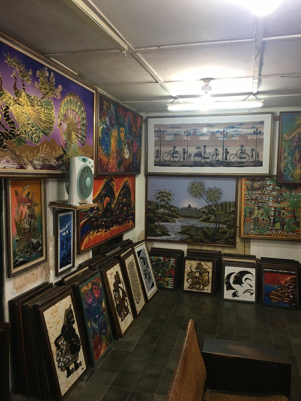 A batik gallery.