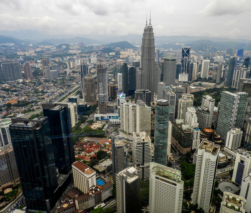 View from the top of the KL Tower