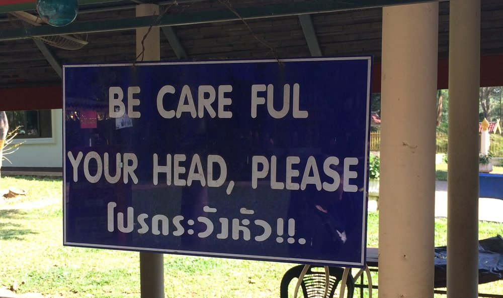 I heeded the request. Chiang Dao, Thailand.