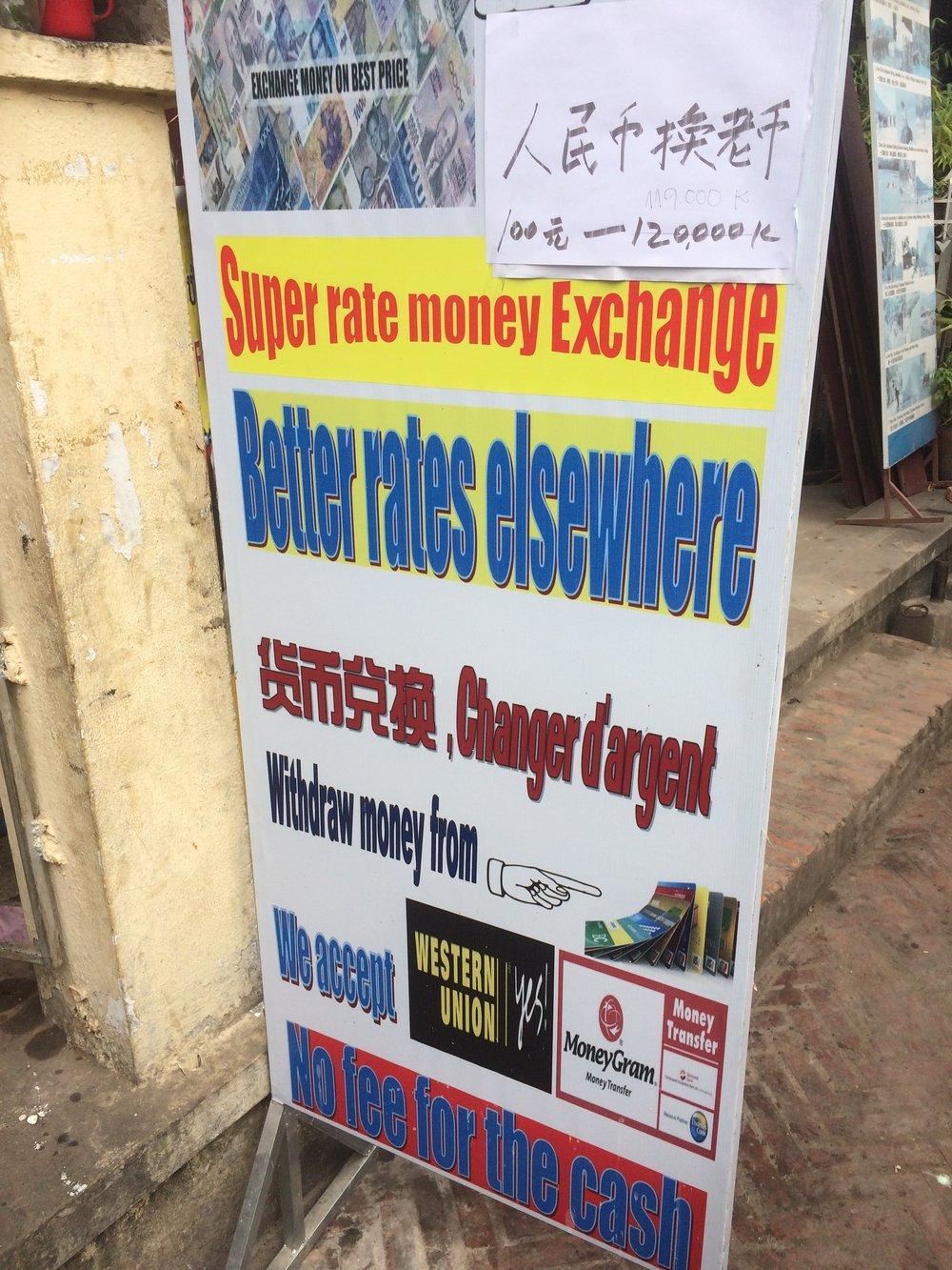 Fantastic sales pitch... Luang Prabang, Loas