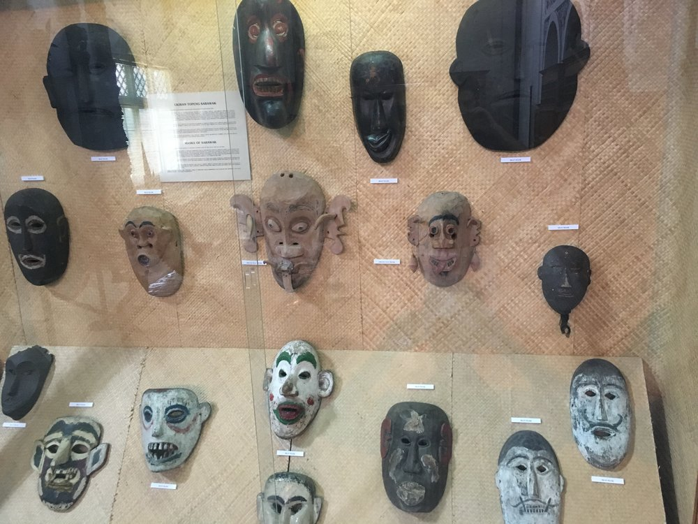 Some masks used in ceremonies
