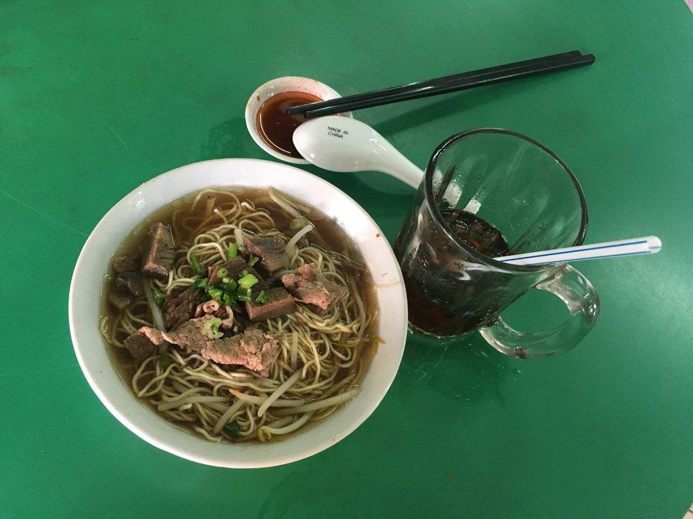 Beef noodles soup.