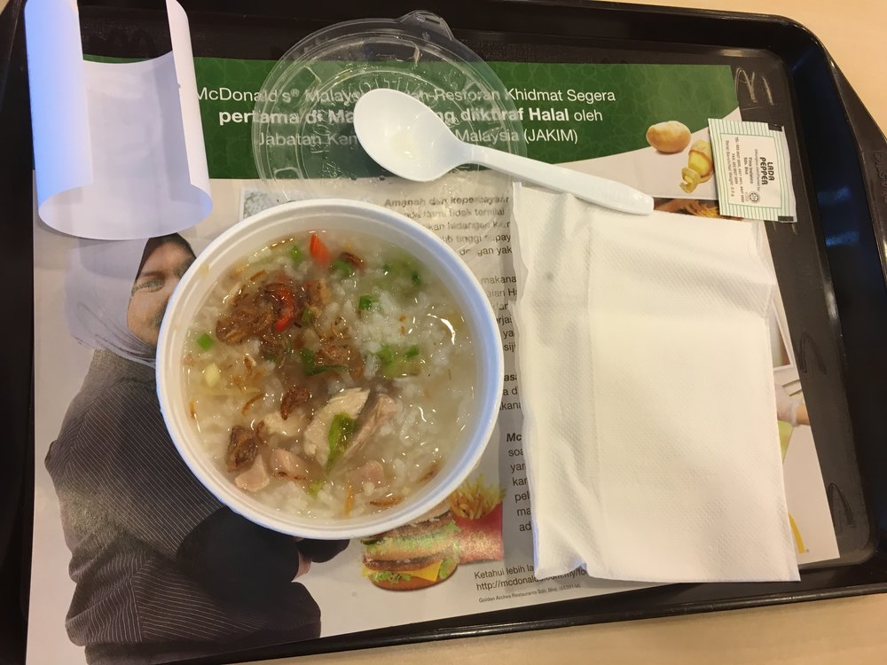 Rice porridge at McDonald's