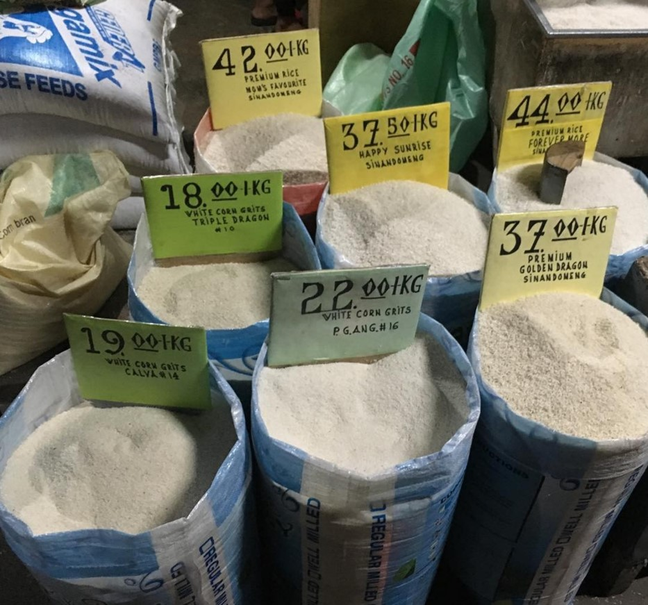 Rice for sale in Dumaguete, Philippines