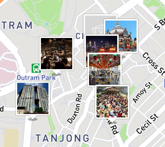 Here's a small sampling of TripScout's Singapore guide. By tapping on the pictures you can learn about the sites.