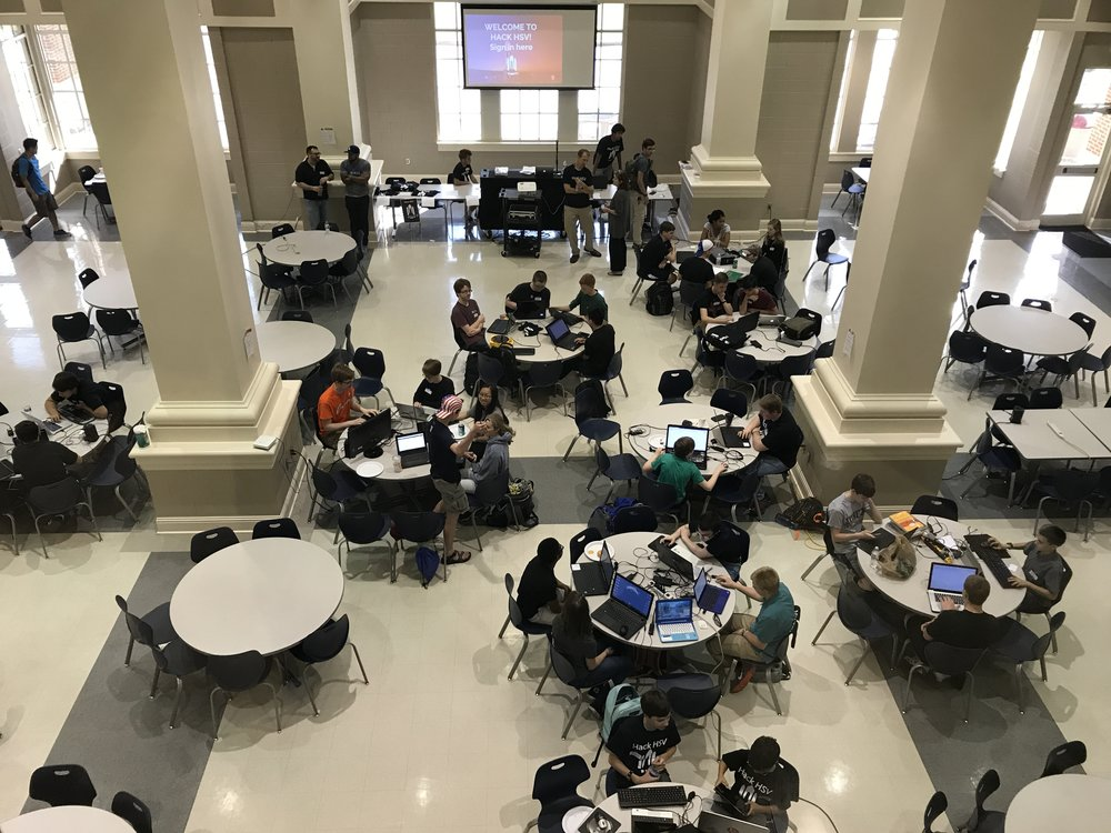 Over 40 students participated in Alabama's first high school hackathon.