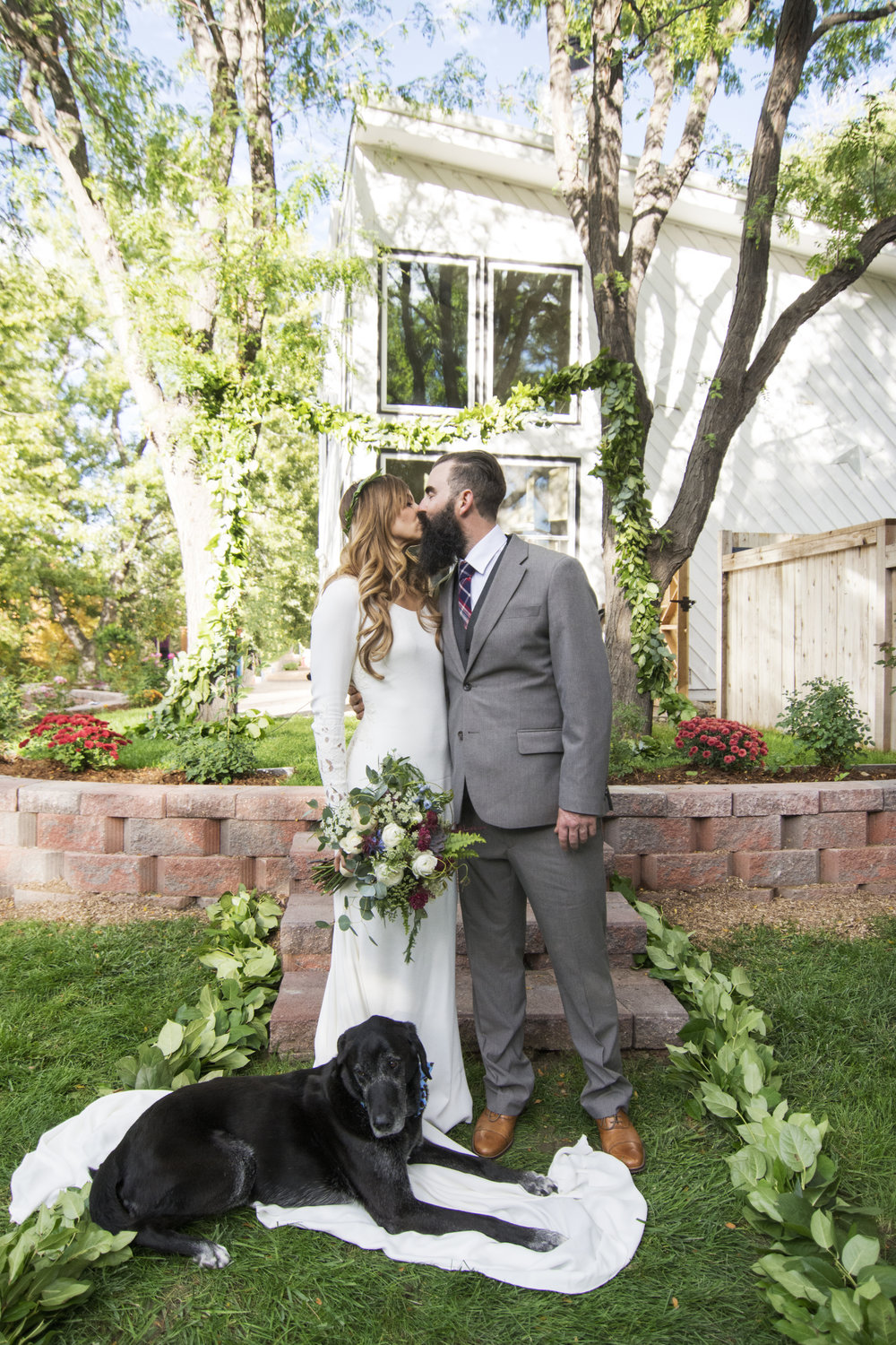 Jayce + John's Denver Backyard Wedding