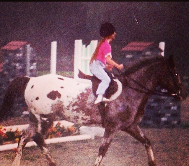 Heather on Pete when she was about 5
