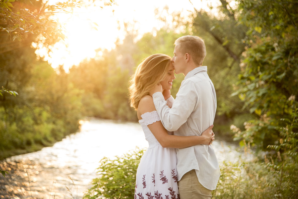 Alli + Mike's Clear Creek Engagement in Arvada
