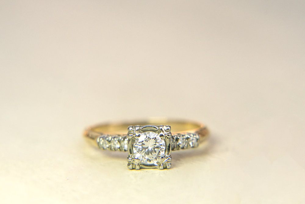 Engagement+Ring+Gold+Diamond+Square+Vintage+Heirloom+1.jpg