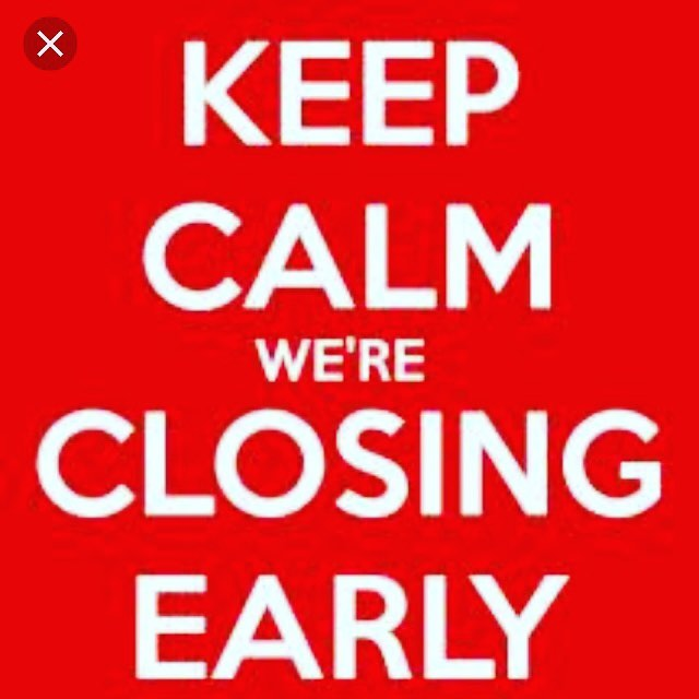 Good morning on this fine gorgeous day🌞🌞🌞 Today we will be closing at 2pm due to the very exciting event of England 🏴 playing Sweden 🇸🇪 at 3pm.  I hope you all enjoy and wish England well.  Happy Saturday  Love Jane