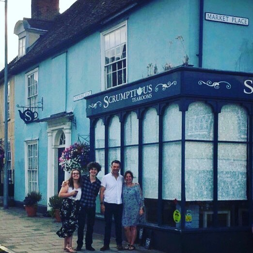 The last time our picture will be taken proudly outside our lovely #family run #awardwinning #tearooms... walking up the high street will never feel the same again for many, especially us 😢 it's been the best experience ever and we will carry on the #scrumptious brand some how some way into our future 😇 to keep posted on our future ventures please follow me on @scrumptious_jane 😍 let the new journey begin 🤩 #greatdunmow #essex #futureplansinthemaking