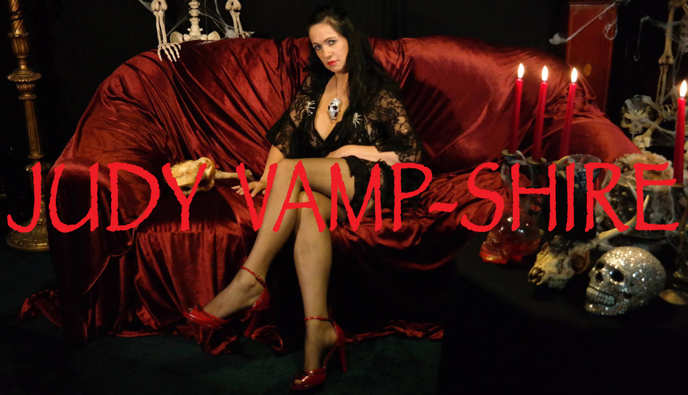 To find out more about Judy Vamp-Shire Vampire, Rock Singer and TV Hostess. Click on photo to visit her website