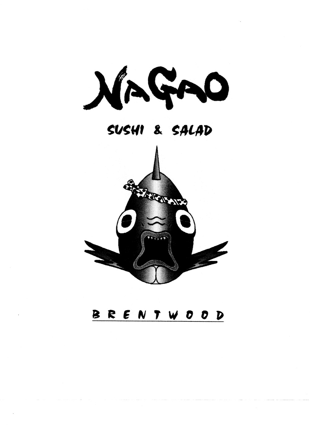 The original logo and art used since Nagao's opening in 1997.