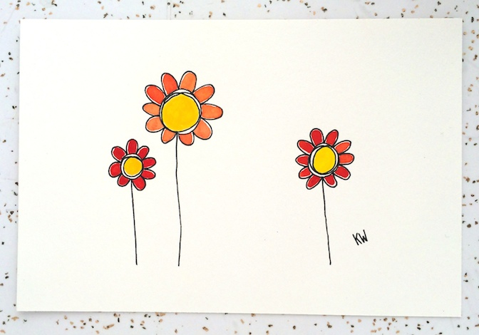 colorful_daisies_kenziewoods_watercolor