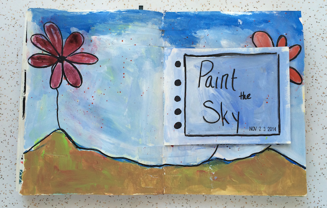 paint_the_sky_art_journal