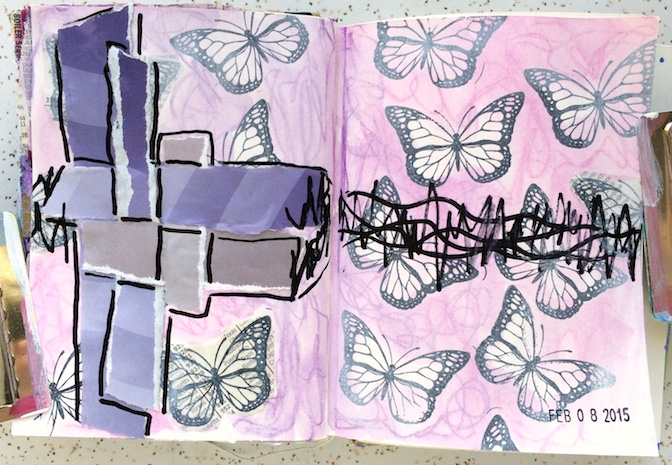 butterfly_collage_artjournal