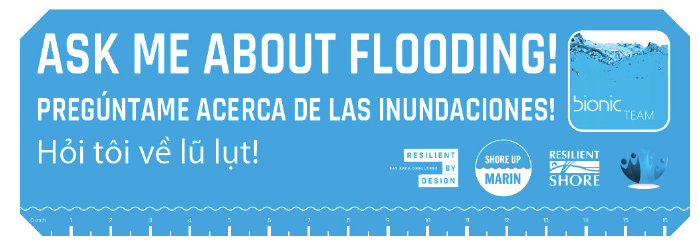 Ask me about Flooding! Stickers, Bionic Team, San Rafael, Marin County