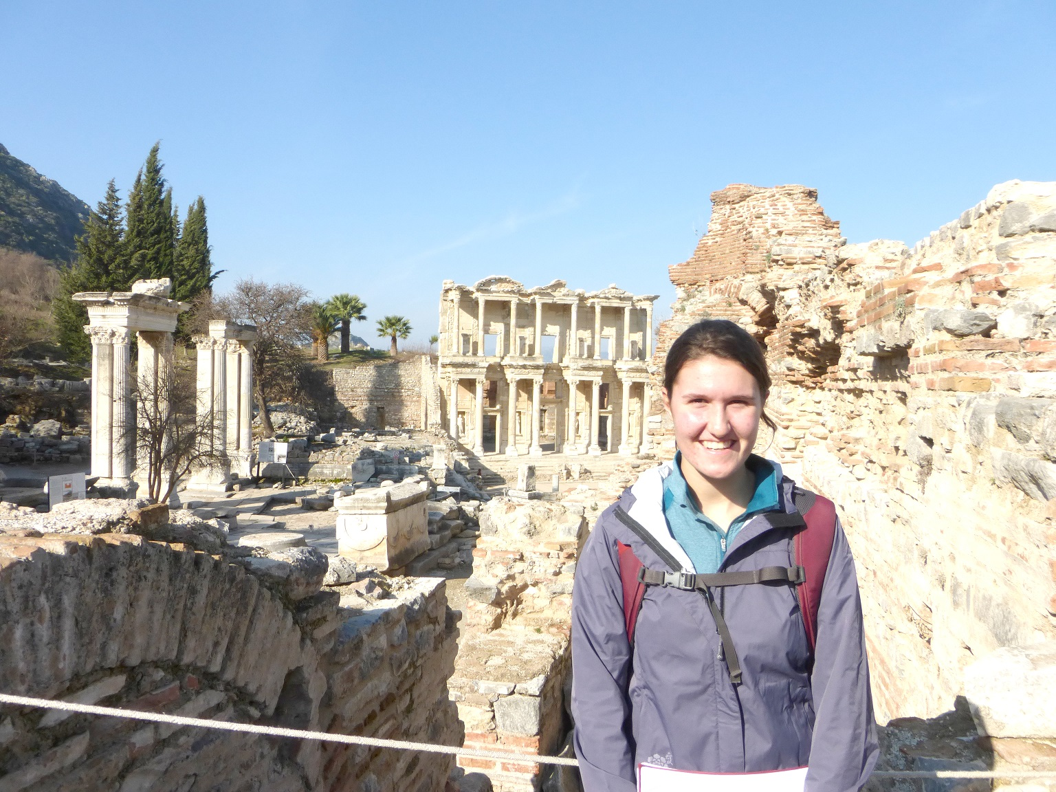 Rowanne Fairchild at Ephesus Ruins