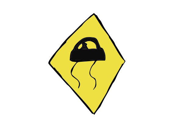 Use caution in winter driving image