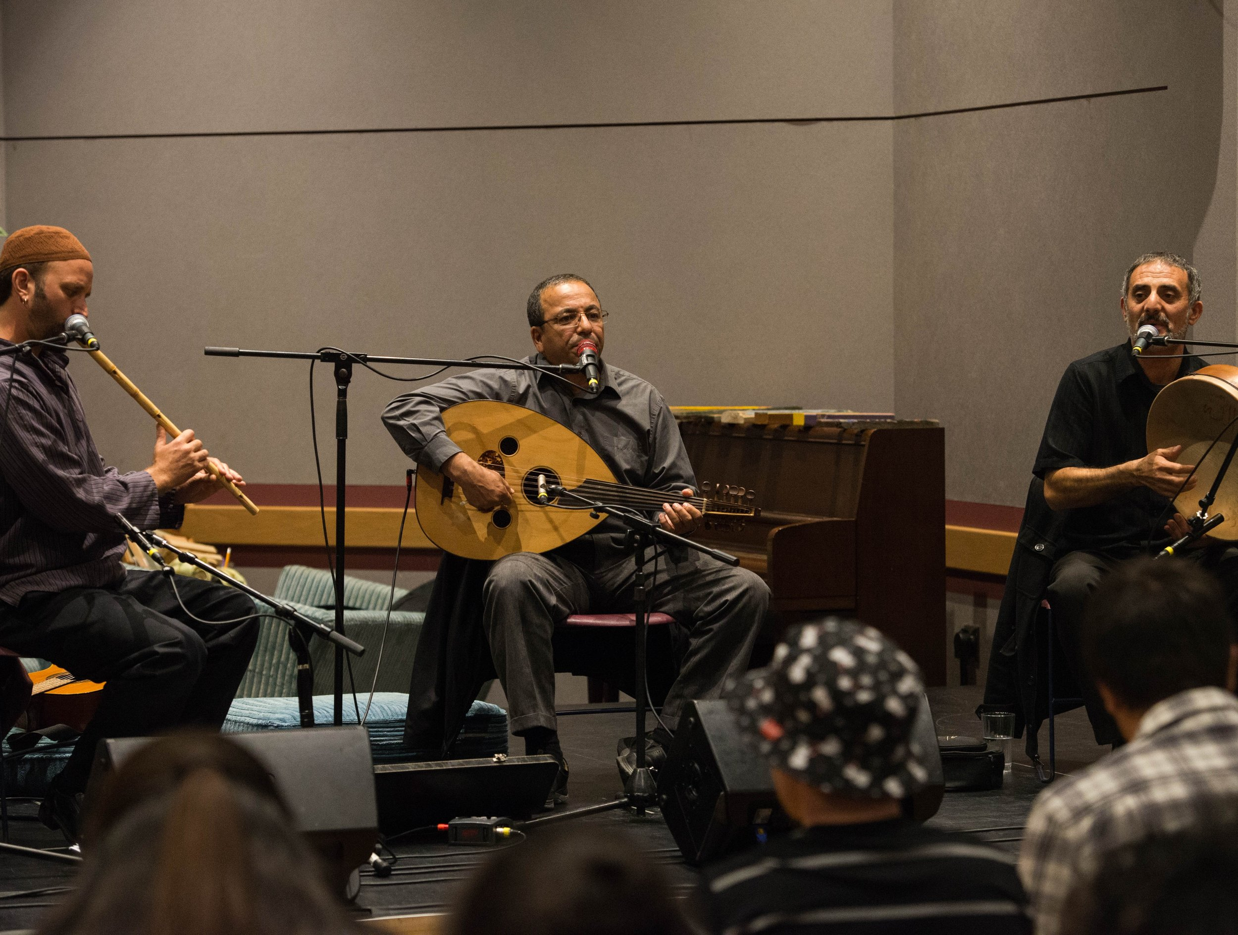 Photographer: Stuart Beeksma The Qadim Ensemble performs a historic song from Arabic culture during their concert on Friday, Sept. 18.  They play traditional instruments from several Middle Eastern countries.