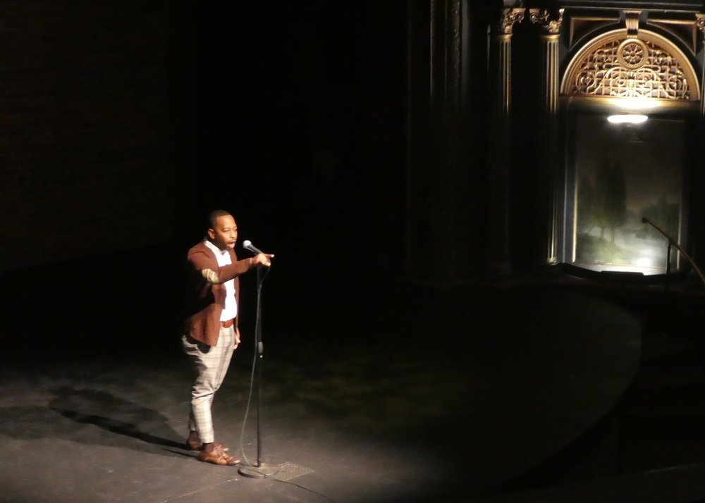 Poet Rudy Francisco in the final round of the slam