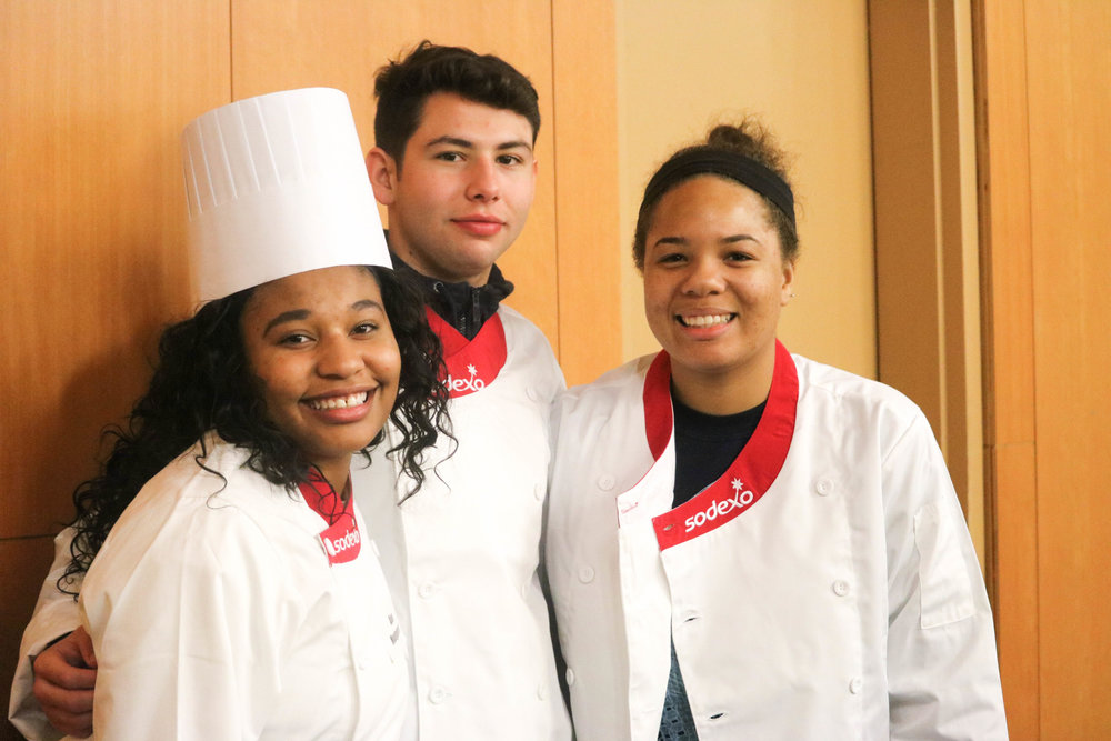 Sophomore Alexzondria Montgomery, sophomore Alfredo Ornelas and junior Lajhaya Lewis-Harrell at Top Chef, Nov. 12.
