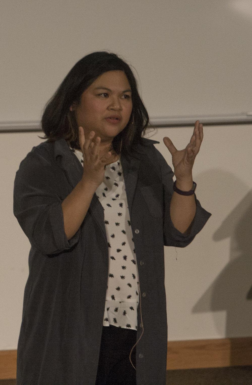 Heidi Thom| Photographer  Lisa Factora-Borchers speaking