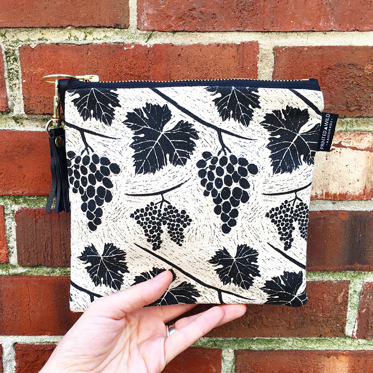 "The ""vine"" square clutch"