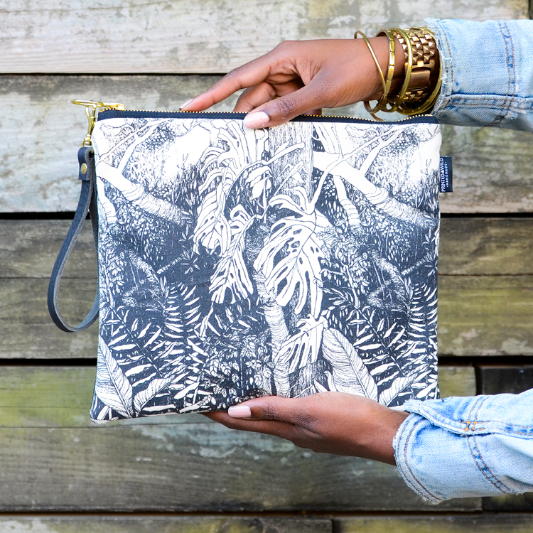 "The ""Jungle"" foldover clutch"